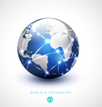 World network communication and technology vector image vector image
