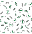 Money abstract seamless background vector image