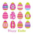 Easter eggs in vector image