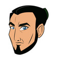 character face samurai man warrior design vector image