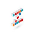 3d cube letter z logo icon design template vector image