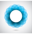 Abstract blue figure vector image vector image