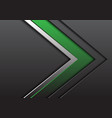 abstract green silver grey arrow with blank space