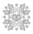 Abstract Mendie Mandala vector image