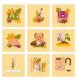 Assembly flat icons the first of september