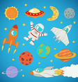 astronaut planets rockets vector image vector image