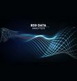 big data analytics abstract wave music background