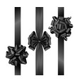 black friday bows with vertical ribbons top view vector image vector image
