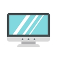 Blank computer monitor icon flat style vector image vector image