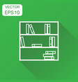 bookcase furniture icon business concept office vector image