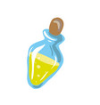 bottle of oil cartoon style vector image