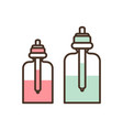 bottles with essences set vector image