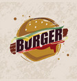 burger stylized symbol fast food concept vector image