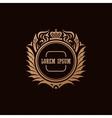 Calligraphic Luxury crown logo Emblem elegant vector image vector image