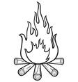 campfire vector image vector image