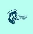 captain logo vector image vector image