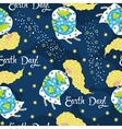 Cartoon Earth Day seamless pattern vector image