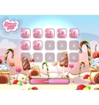 Cartoon fairy tale candy background with vector image vector image