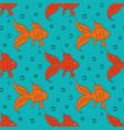 cartoon gold fish vector image vector image