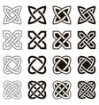 celtic knots set icons vector image
