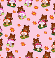 Children seamless Bears for girls vector image vector image