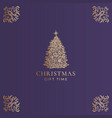 christmas abstract classy label logo or vector image