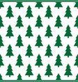 christmas trees pattern vector image vector image