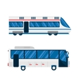 City bus and train subway vector image vector image