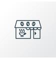 coffeeshop icon line symbol premium quality vector image