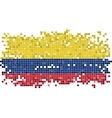 Colombian grunge tile flag vector image vector image