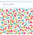 Colorful Branches Horizontal Torn Frame Seamless vector image vector image