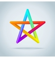 Colorful Inconceivable Pentagram vector image vector image