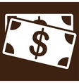 Dollar Banknotes icon from Business Bicolor Set vector image