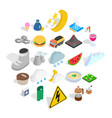 electricity icons set isometric style vector image vector image