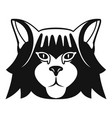 Fashion head cat icon simple style