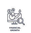 financial growth line icon concept financial vector image vector image