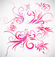 Floral decoration collection vector image vector image