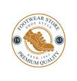 footwear store logo premium quality estd 1963 vector image vector image