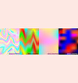 four holographic background vector image vector image