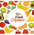 fruits and vegetables group pattern vector image