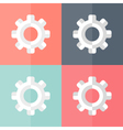 Gear flat icons set vector image