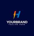 h logo initial letter design template