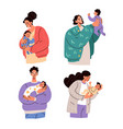 happy parents mothers and fathers holding baby vector image vector image