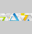 hi-tech geometric abstract banner with paper vector image vector image