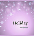 holiday pink decoration background with stars vector image