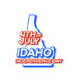 idaho state 4th july independence day with map vector image vector image