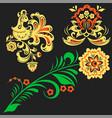 khokhloma russian pattern design vector image vector image