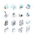 Laboratory Equipment Icon Set vector image