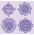 lacy arabesque designs vector image vector image