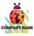 ladybug modern logo design on a white background vector image